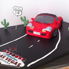 Tarta Porche Booxter, tartas personalizadas madrid, tartas decoradas madrid, tartas fondant madrid, tarta coche 3D,