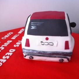 Tarta Fiat 500 3D, tartas personalizadas madrid, tartas decoradas madrid, tartas fondant madrid, tarta coche 3D, tarta cumpleaños