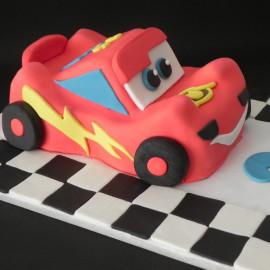 Tarta Rayo Mc Queen, tartas personalizadas madrid, tartas decoradas madrid, tartas fondant madrid, tarta coche 3D, tarta cumpleaños