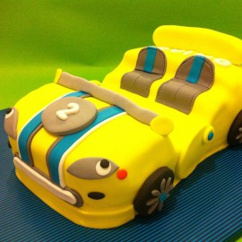 Tarta Porche Booxter, tartas personalizadas madrid, tartas decoradas madrid, tartas fondant madrid, tarta coche 3D, tarta cumpleaños