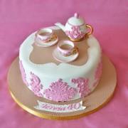 Tarta juego de te, Tartas personalizadas madrid, tartas decoradas madrid, tartas fondant madrid