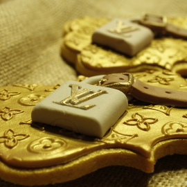 Galletas Louis Vuitton, galletas personalizadas madrid, galletas decoradas madrid, galletas fondant madrid