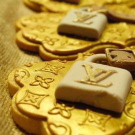 Galletas Louis Vuitton, galletas personalizadas madrid, galletas decoradas madrid, galletas fondant madrid
