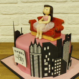 Tarta Friends y Sex and The City